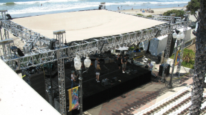 outdoor event staging