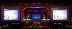 meeting with lighting and projectors