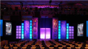 staging rentals and up lighting