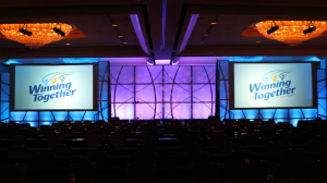 stage lighting and video projection