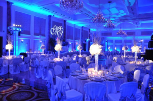 led up lighting for wedding receptions
