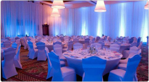 wedding drape and up lighting